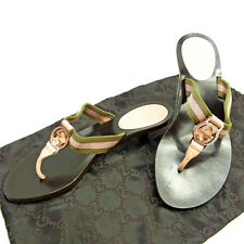 GUCCI sandals tong double G Ladies Authentic Used Y3668