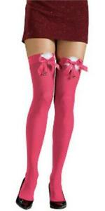 Pink Bow with Bell Thigh Highs