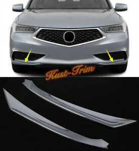FIT For Acura TLX 2018-2020 ABS Chrome Front Bumper Front Lip Corner Cover Trim