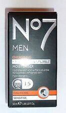 No7 Men Energising Face Beard Stubble Moisturiser Sensitive Skin 50ml