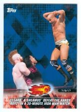"""SHEAMUS CESARO """"BLUE PARALLEL BASE CARD #42 /99"""" TOPPS ROAD TO WRESTLEMANIA 2018"""