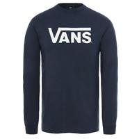 VANS NEW Mens Long Sleeve T-Shirt Navy / White BNWT