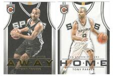 (x2) 2015-16 Panini Complete TONY PARKER #30 Home & Away Jersey lot 1:121 packs!