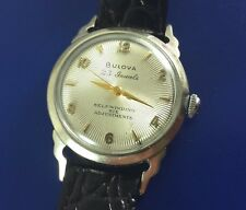 Vintage Men's Bulova Wrist Watch 23 Jewels Self Winding With Starbust Dial