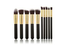 SET 10 PENNELLI TRUCCO PROFESSIONALI MAKE UP PENNELLO FONDOTINTA FARD BRUSH