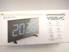YISSVIC Digital Alarm Clocks for Bedrooms 6.5 Inches LED Clock with Blue Digits