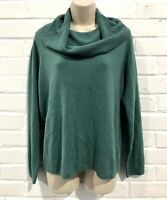 M&S Classic Soft Touch High Neck Knit Jumper (Size 12) - Petrol Green