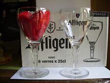 6 verres à bière AFFLIGEM 25 cl + 6 sous bocks