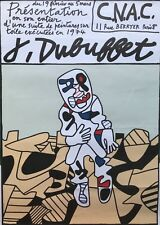 JEAN DUBUFFET AFFICHE LITHOGRAPHIE ORIGINALE C.N.A.C 1974