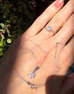 Platinum Diamond Set PT950 Ring & Necklace chain & pendant $3500