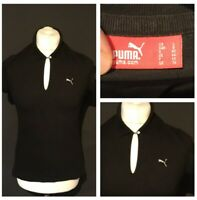 PUMA Women's Casual Polo T Shirt Black Size 14 Short Sleeve 100% Cotton