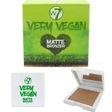 W7 Very Vegan Matte Bronzer - Contouring Pressed Powder Brown