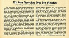 Con el aeroplan sobre el Simplon (con) 10 grabaciones históricas de 1910