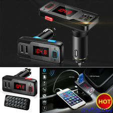 Car Kit Wireless Bluetooth Transmisor FM Reproductor MP3 USB Charger LCD Remote