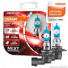 2 Lampade Osram HB3 Night Breaker Laser Lampadine Fari Auto Moto