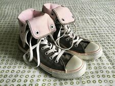 Converse All Star Khaki/Pink Fold Over High-Top Trainers, UK size 4, EUR 36.5