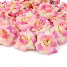 Lot 50 Fleur Artificielle Tissu Rose en Soie Décoration Maison Mariage #2