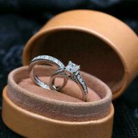 Engagement Wedding Bridal Ring Set 2.00Ct Princess Cut Diamond 14k White Gold FN