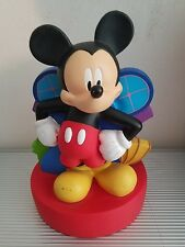 DISNEY MICKEY MOUSE COIN BANK HARD PLASTIC BRIGHT COLORS