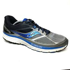 Saucony Guide 10 Grey Black Blue White Men's Running Sneaker S20350-1 Size 12