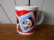 MICKEY/MINNIE MOUSE STAMPS coffee mug KILNCRAFT Kiln Craft, CHRISTMAS Disney