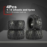 4Pcs 150mm Wheel Rim and Tires for 1/8 Monster Truck Racing RC Car Accessories }