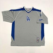 Majestic Los Angeles Dodgers Jersey Shirt, Mens Size Large, Grey Blue *