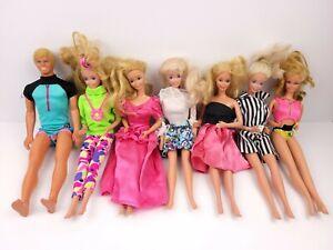 Vintage Lot Of Mattel Barbie & Ken Dolls (7 Total)