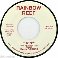 "7"" DANN DAN GARNER Lonely / High Country Wind ANNA PELLETT RAINBOW REEF USA 1991"