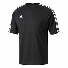 adidas Football Youth Soccer Estro 15 Jersey Boys Climalite Black White 140