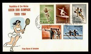 DR WHO 1964 SAN MARINO FDC TOKYO OLYMPICS  C234075