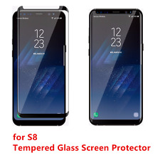100PCS Black Premium For Samsung S8 Tempered Glass Screen Protector Anti-Scratch