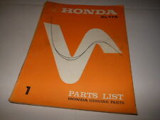 OEM Factory Honda 1973 XL175 Parts List Manual