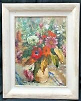 Still Life Oil Painting of Flowers - manner of Dorothea SHARP 1874 - 1955