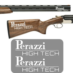 2x PERAZZI HIGH TECH Vinyl Decal Sticker. 3 sizes and 8 colours to choose from