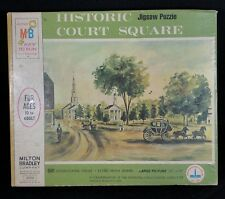 Historic Court Square Springfield MA Jigsaw Puzzle Milton Bradley 500 Pieces VTG