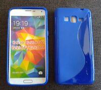 Custodia cover silicone S-line blu per samsung galaxy grand prime G530H G531F
