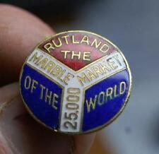 RARE VINTAGE RUTLAND VERMONT MARBLE CO. 25,000  MARKET OF THE WORLD ENAMEL PIN