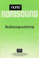 NORIS Norisound - Bedienungsanleitung B1859