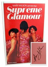 MARY WILSON SUPREME GLAMOUR SIGNED Inside Book NEW First Edition Hardcover