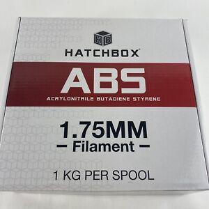 NEW HATCHBOX ABS 3D Printer Filament - White