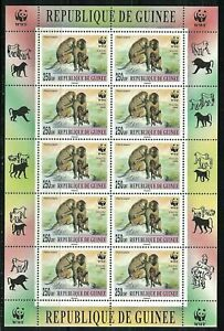 GUINEA: 2000 MNH mini sheet MONKEYS