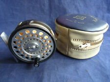 "A VERY GOOD VINTAGE HARDY ""THE FEATHERWEIGHT"" 2 7/8"" TROUT FLY REEL + CASE +LINE"