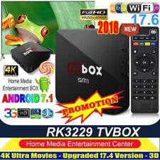 2018 MX Pro Quad Core Android TV Box New 17.6 Ultra 4K HD Sports 3D Media Player