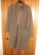 Structure men's lined duster coat size M Medium LS USED WORN brown