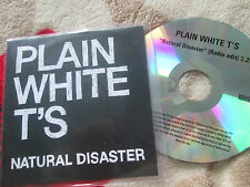 Plain White T's ‎– Natural Disaster Hollywood Records UK CDr Promo CD Single