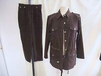 """Ladies Trouser Suit size S, bust 40-42"""" waist 28-30"""" inside leg 25"""", brown 1725"""