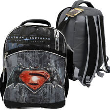 Warner Brothers Batman Vs Superman Logo Backpack Grey Black School Boys Book bag