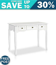 Artiss Hall Console Table Hallway Side Dressing Entry Wooden French Drawer White