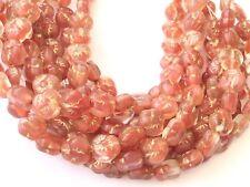 25 Fine Vintage Trade Caramel Flowers Czech Bohemian Glass beads